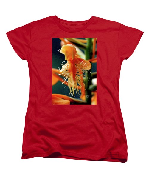 Women's T-Shirt (Standard Cut) featuring the photograph Fringed Orange Orchid by Meta Gatschenberger