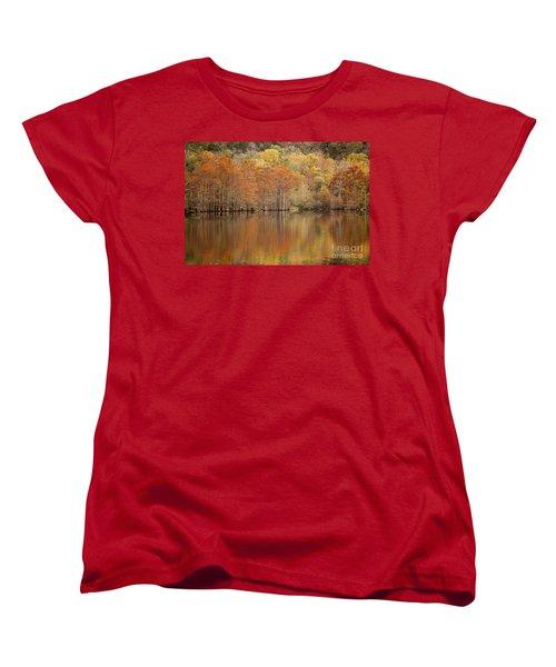 Women's T-Shirt (Standard Cut) featuring the photograph Orange Pool by Iris Greenwell