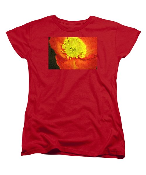 Women's T-Shirt (Standard Cut) featuring the photograph Orange Poppy by Donna Bentley
