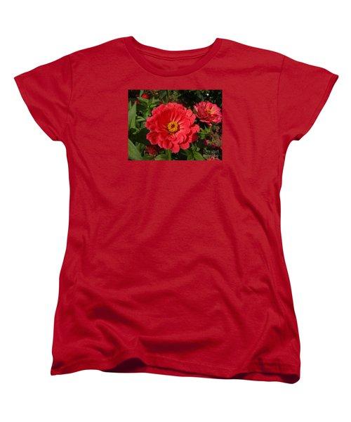 Orange Red Zinnia Women's T-Shirt (Standard Cut)
