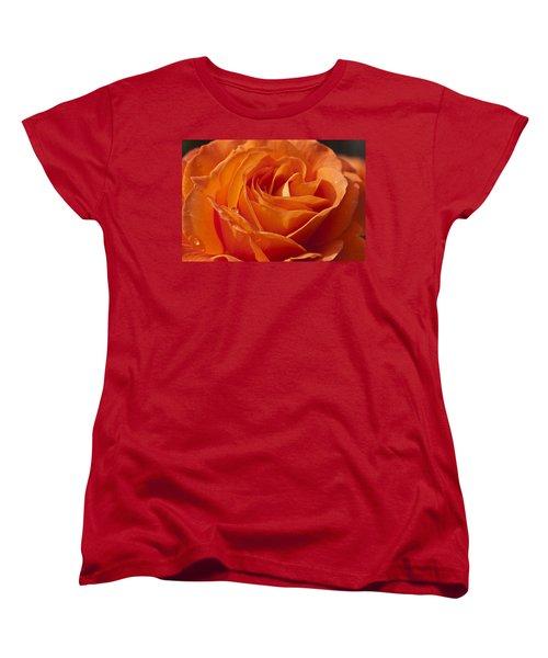 Orange Rose 2 Women's T-Shirt (Standard Cut) by Steve Purnell