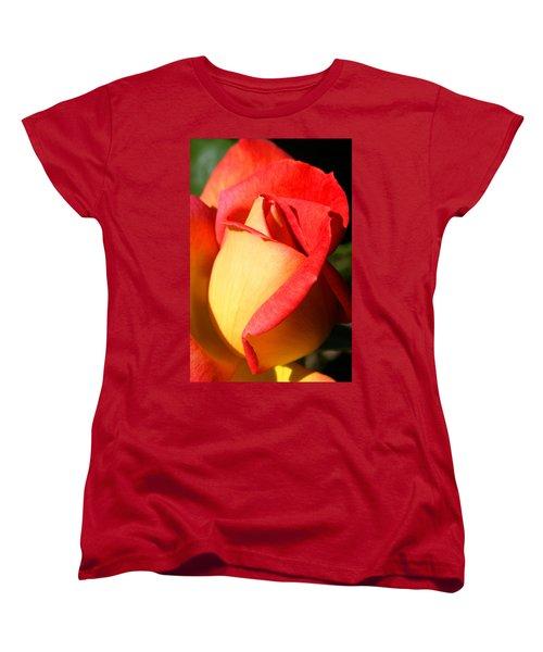 Orange Rosebud Women's T-Shirt (Standard Cut) by Ralph A  Ledergerber-Photography