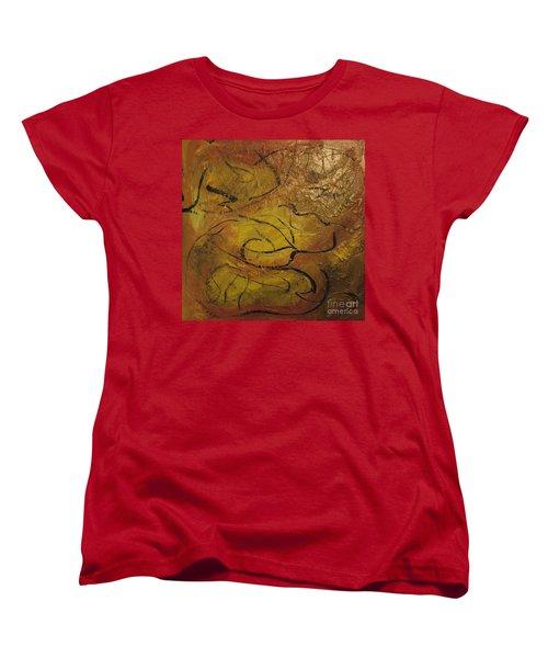 Orange Souffle Women's T-Shirt (Standard Cut) by Gallery Messina