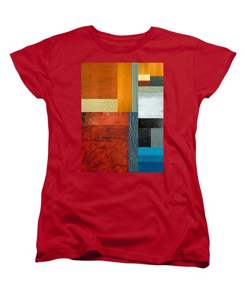 Women's T-Shirt (Standard Cut) featuring the painting Orange Study With Compliments 1.0 by Michelle Calkins