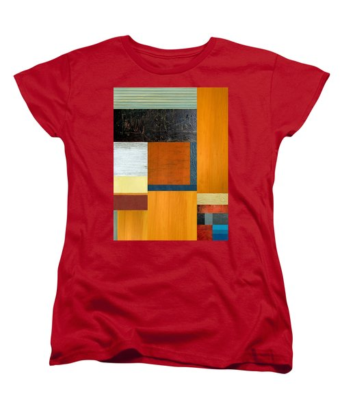 Women's T-Shirt (Standard Cut) featuring the painting Orange Study With Compliments 2.0 by Michelle Calkins