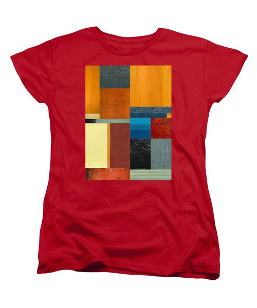 Women's T-Shirt (Standard Cut) featuring the painting Orange Study With Compliments 3.0 by Michelle Calkins