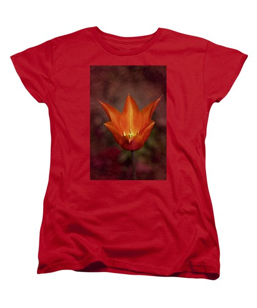 Orange Tulip Women's T-Shirt (Standard Cut) by Richard Cummings