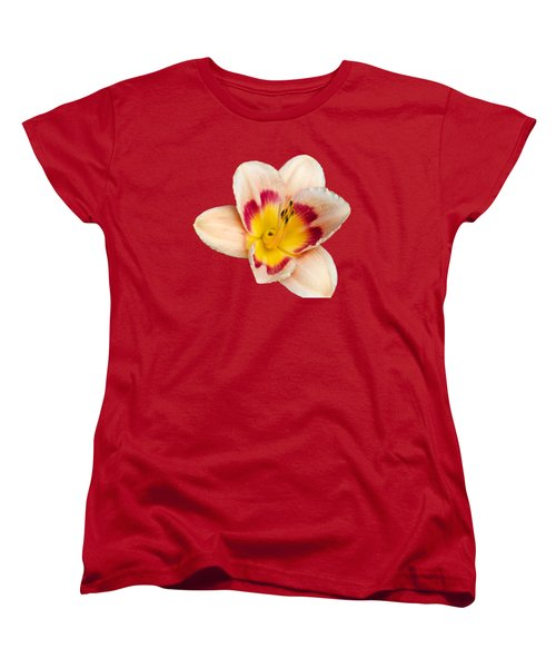 Orange Yellow Lilies Women's T-Shirt (Standard Cut) by Christina Rollo