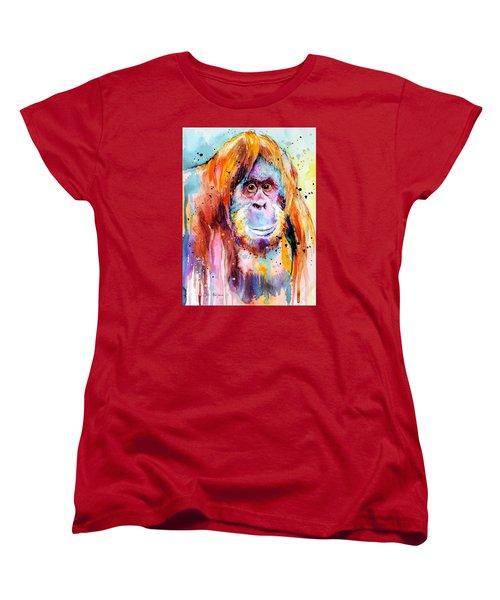 Orangutan  Women's T-Shirt (Standard Cut) by Slavi Aladjova
