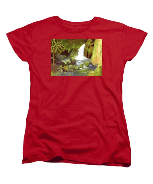 Oregon Waterfall Women's T-Shirt (Standard Cut) by Alice Leggett