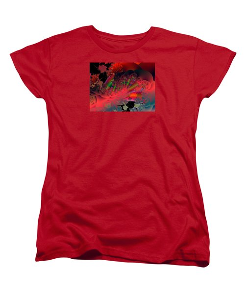Women's T-Shirt (Standard Cut) featuring the digital art Oriental Inspired by Ann Peck