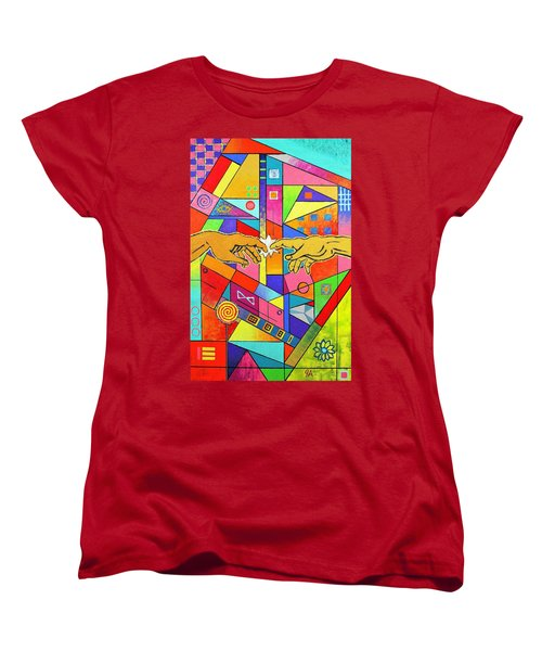 Origin Of Man Women's T-Shirt (Standard Cut) by Jeremy Aiyadurai