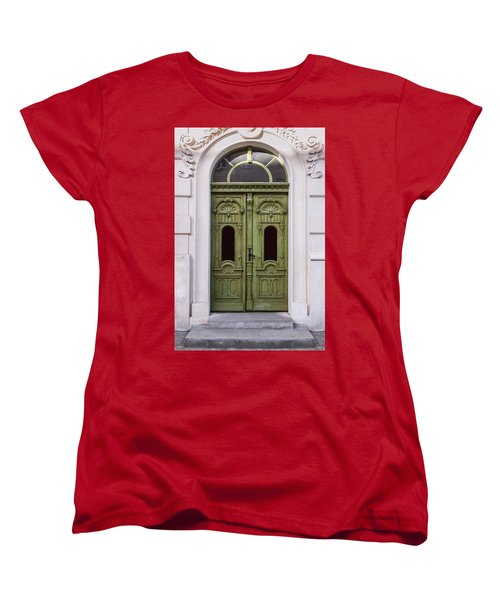 Ornamented Gates In Olive Colors Women's T-Shirt (Standard Cut) by Jaroslaw Blaminsky