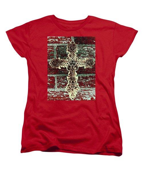 Ornate Cross 1 Women's T-Shirt (Standard Cut) by Angelina Vick