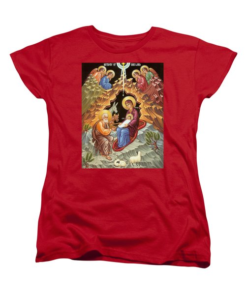 Orthodox Nativity Scene Women's T-Shirt (Standard Cut) by Munir Alawi