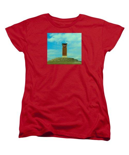 Oklahoma State University Gateway To Osu Tulsa Campus Women's T-Shirt (Standard Cut) by Janette Boyd