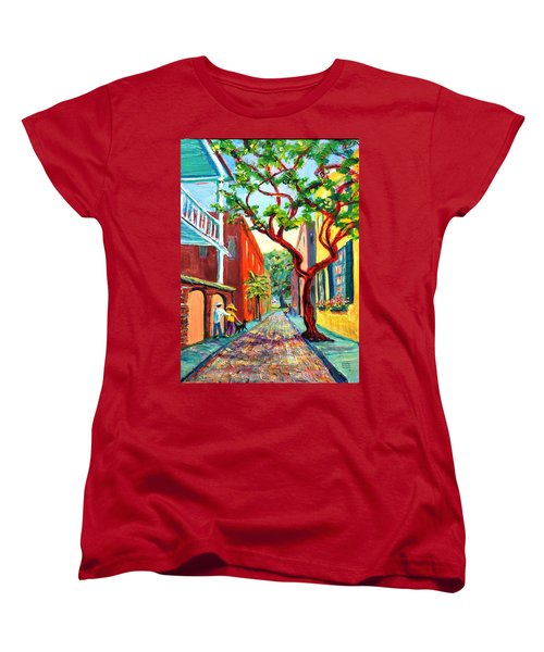 Out And About Women's T-Shirt (Standard Cut) by Dorothy Allston Rogers