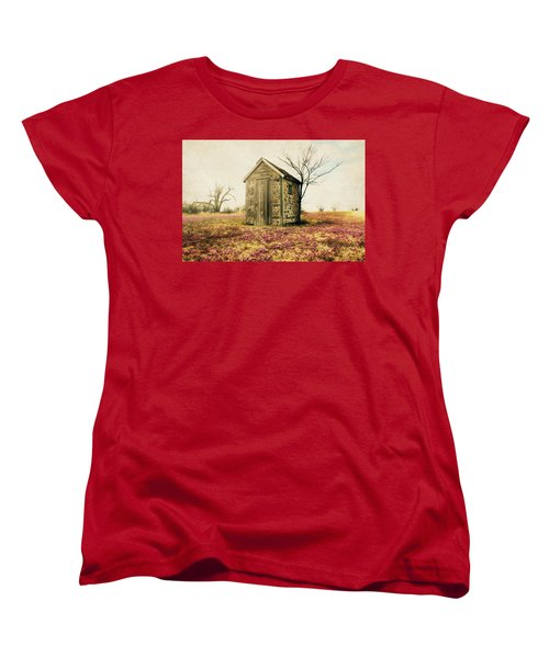 Women's T-Shirt (Standard Cut) featuring the photograph Outhouse by Julie Hamilton