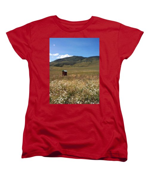 Women's T-Shirt (Standard Cut) featuring the photograph Out House by Mary-Lee Sanders