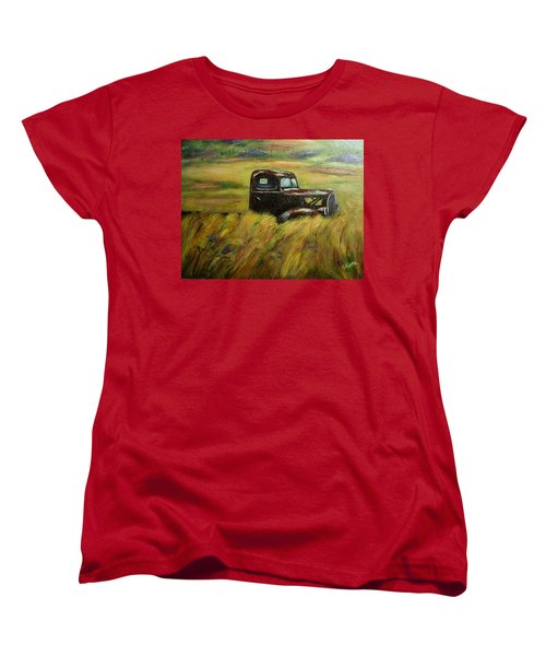 Out To Pasture Women's T-Shirt (Standard Cut) by Gail Kirtz