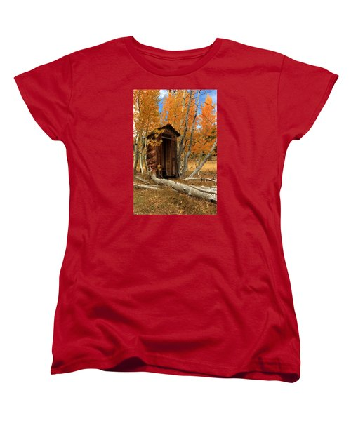 Outhouse In The Aspens Women's T-Shirt (Standard Cut) by James Eddy