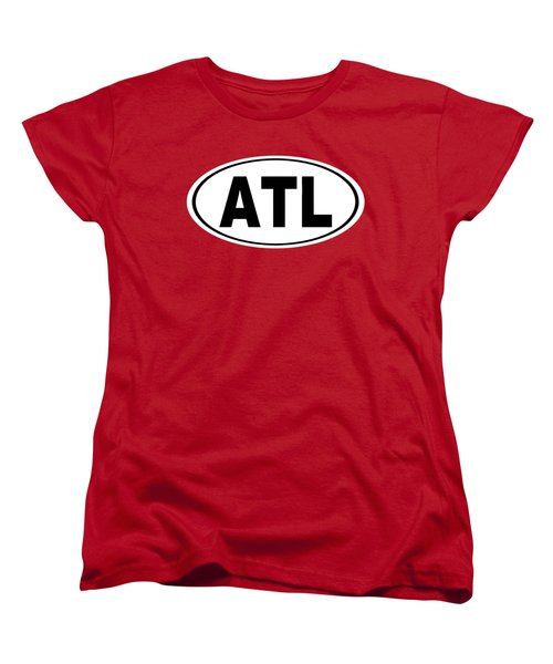 Women's T-Shirt (Standard Cut) featuring the photograph Oval Atl Atlanta Georgia Home Pride by Keith Webber Jr