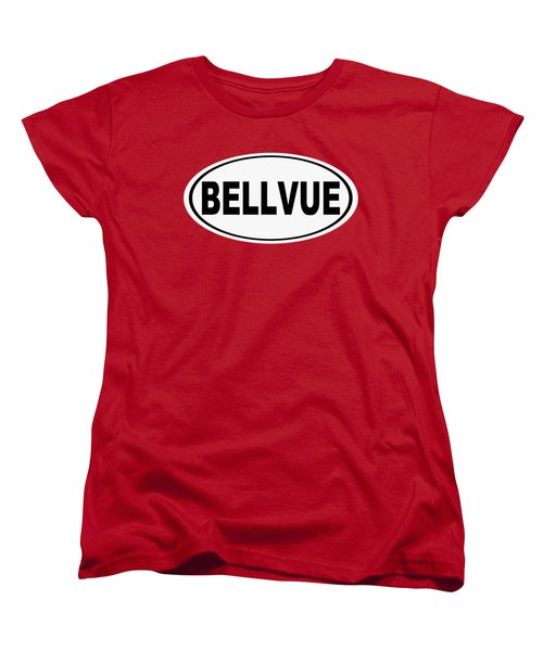 Women's T-Shirt (Standard Cut) featuring the photograph Oval Bellvue Colorado Home Pride by Keith Webber Jr