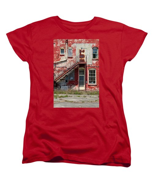 Women's T-Shirt (Standard Cut) featuring the photograph Over Under The Stairs by Christopher Holmes