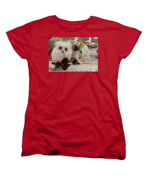 Owl On The Shelf Women's T-Shirt (Standard Cut) by Betty-Anne McDonald