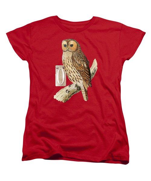 Women's T-Shirt (Standard Cut) featuring the digital art Owl T Shirt Design by Bellesouth Studio