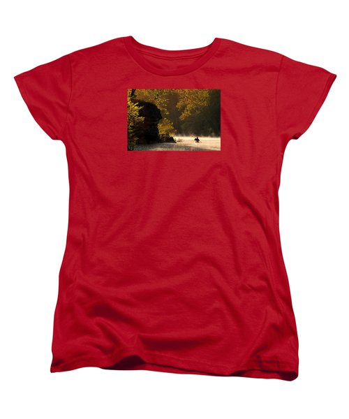 Paddling In Autumn Women's T-Shirt (Standard Cut) by Robert Charity