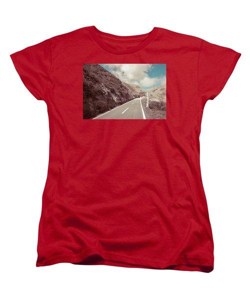 Paekakariki Hill Road Women's T-Shirt (Standard Cut) by Joseph Westrupp