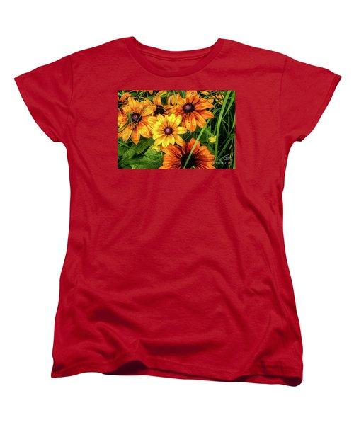 Painted Blossoms Women's T-Shirt (Standard Cut)