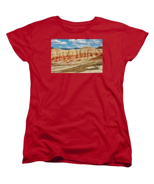 Women's T-Shirt (Standard Cut) featuring the photograph Painted Hills And Afternoon Sky by Greg Nyquist
