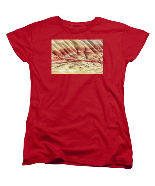 Women's T-Shirt (Standard Cut) featuring the photograph Painted Hills Landscape by Pierre Leclerc Photography