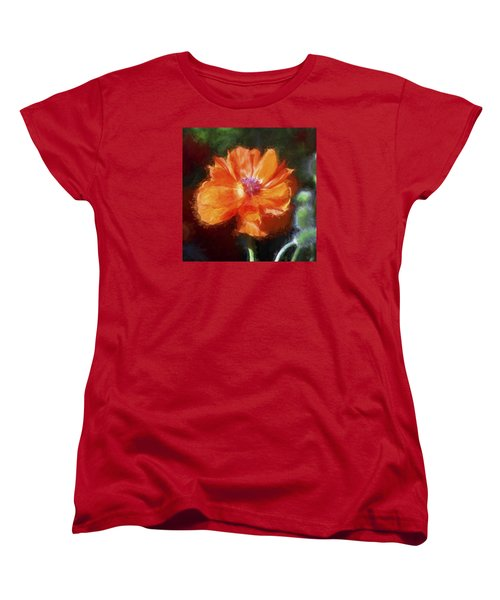 Painted Poppy Women's T-Shirt (Standard Cut) by Christina Lihani