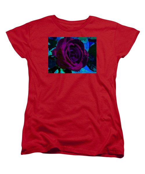 Painted Rose Women's T-Shirt (Standard Cut) by Samantha Thome