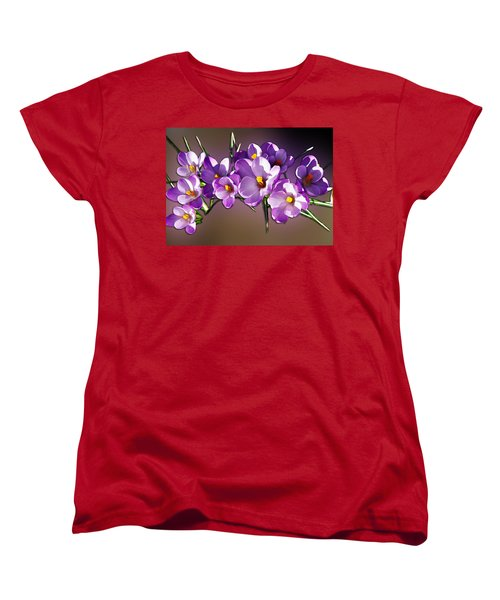 Women's T-Shirt (Standard Cut) featuring the photograph Painted Violets by John Haldane