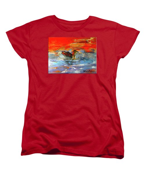 Painterly Escape II Women's T-Shirt (Standard Cut) by Lisa Kaiser