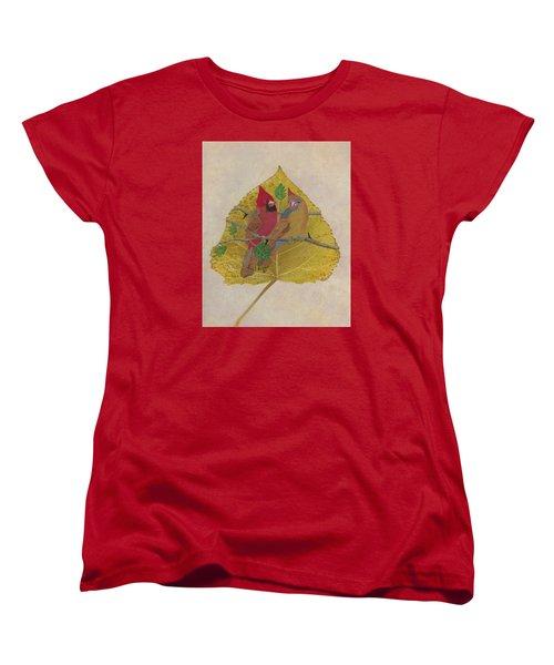 Pair Of Cardinals Women's T-Shirt (Standard Cut) by Ralph Root