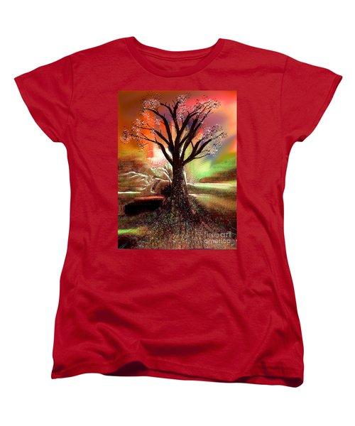 Pale Moonlight 2 Women's T-Shirt (Standard Cut) by Yul Olaivar
