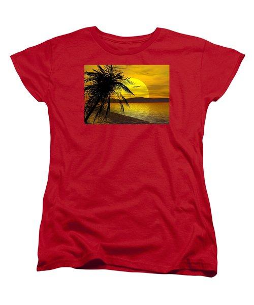 Palm Beach Women's T-Shirt (Standard Cut) by Robert Orinski