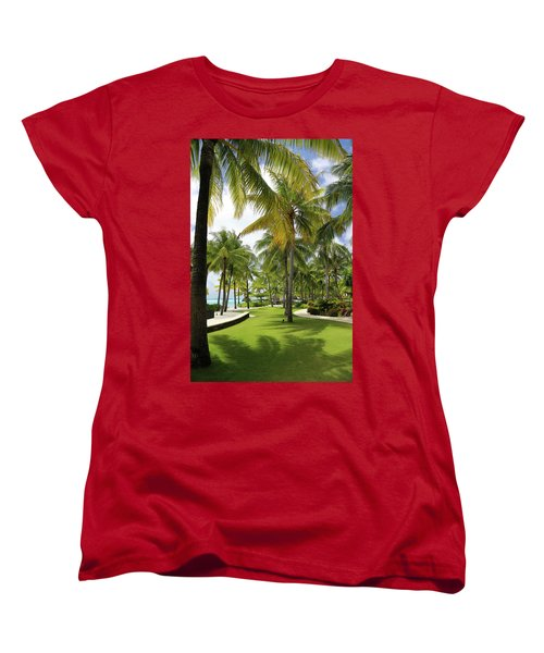 Palm Trees 2 Women's T-Shirt (Standard Cut) by Sharon Jones