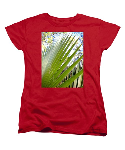 Women's T-Shirt (Standard Cut) featuring the painting Palmetto 1 by Renate Nadi Wesley