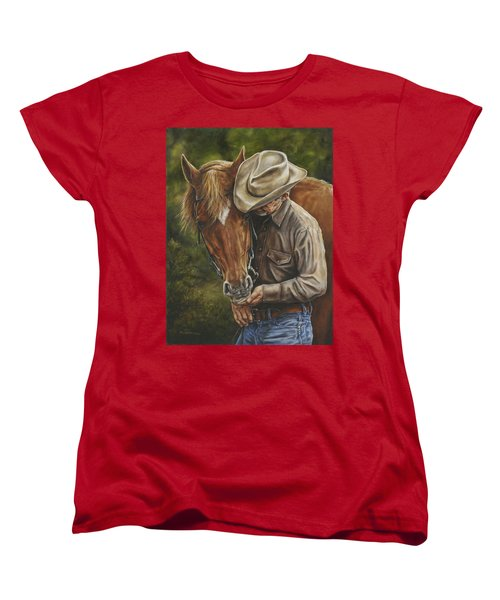 Pals Women's T-Shirt (Standard Cut) by Kim Lockman
