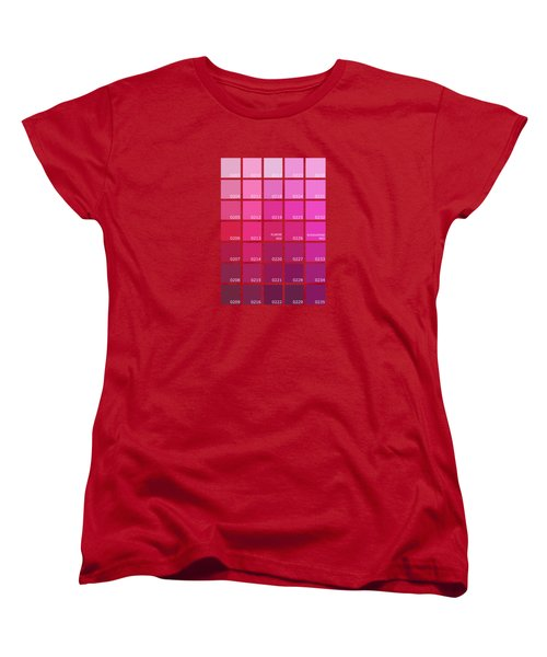 Pantone Shades Of Pink Women's T-Shirt (Standard Fit)
