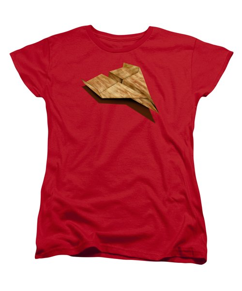 Paper Airplanes Of Wood 5 Women's T-Shirt (Standard Cut) by YoPedro