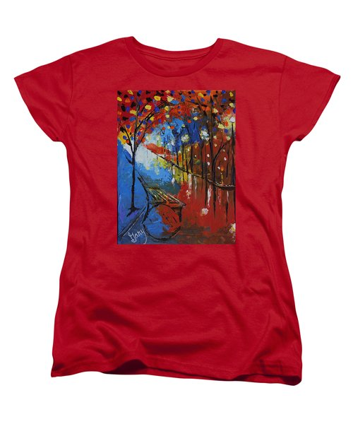Park Bench Women's T-Shirt (Standard Cut) by Gary Smith