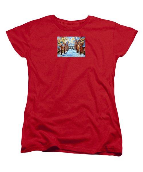 Park Zrinjevac Women's T-Shirt (Standard Cut) by Jasna Dragun