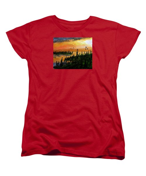Passing The Rugged Shore Women's T-Shirt (Standard Cut) by R Kyllo